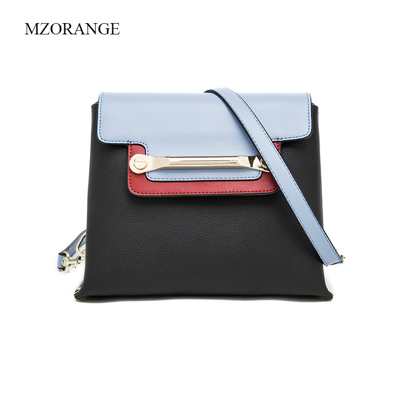 MZORANGE Women Bag Genuine Leather Panelled Mini Flap Lady Crossbody Messenger Bags Vintage Handbags Fashion Female Shoulder Bag new women genuine leather handbags shoulder messenger bag fashion flap bags women first layer of leather crossbody bags
