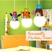 Novelty LED White Bulb Ceiling Lights Cartoon Animal Monkey Zebra Giraffe Children Kids Bedroom Room Lamps