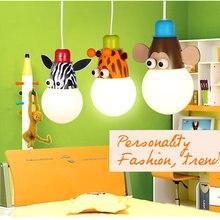 Novelty LED Bulb Light Cartoon Animal Monkey Zebra Giraffe Children Kids Bedroom Pendant Lamp Hang Pendent Light Sleeping Light