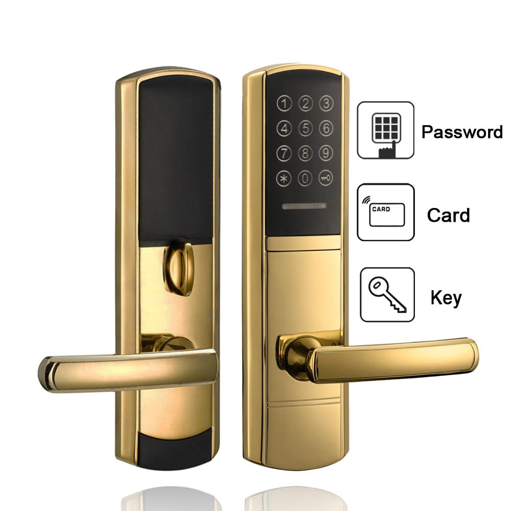 Security Digital Door Lock Electronic Touch Screen Keypad Combination Password Door Lock 2017 high security wireless electronic door lock biometric smart door lock digital touch screen keyless fingerprint door lock