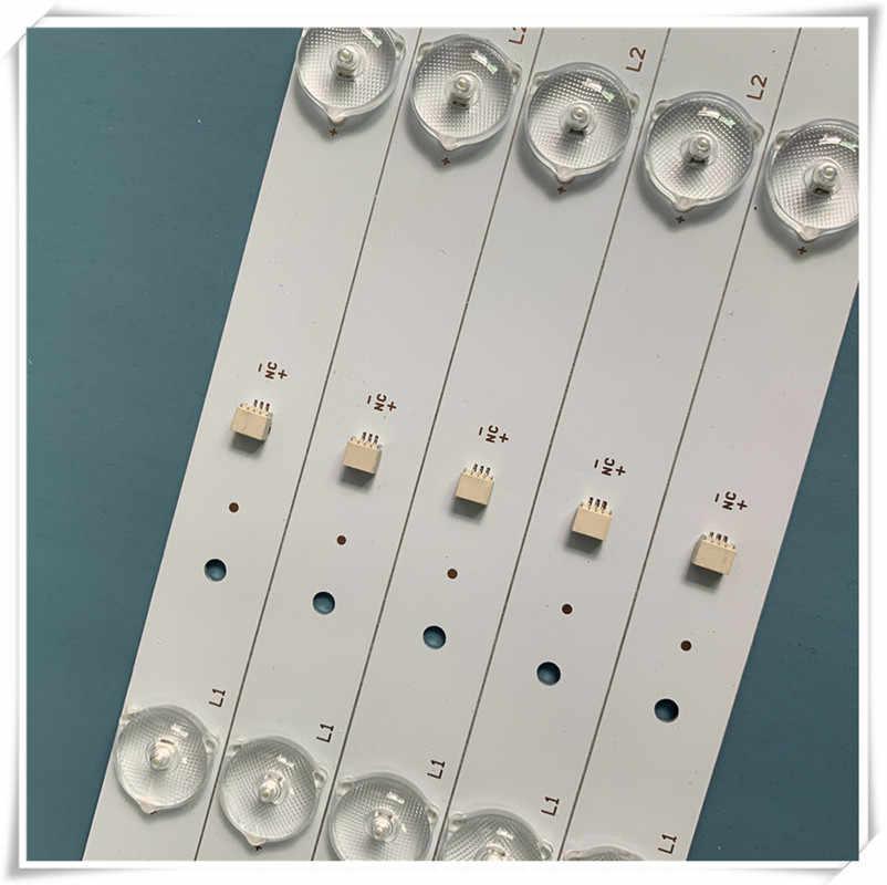 العالمي LED TV شريط إضاءة خلفي 32 بوصة مصباح ليد بار الألومنيوم لوحة 6 مصابيح