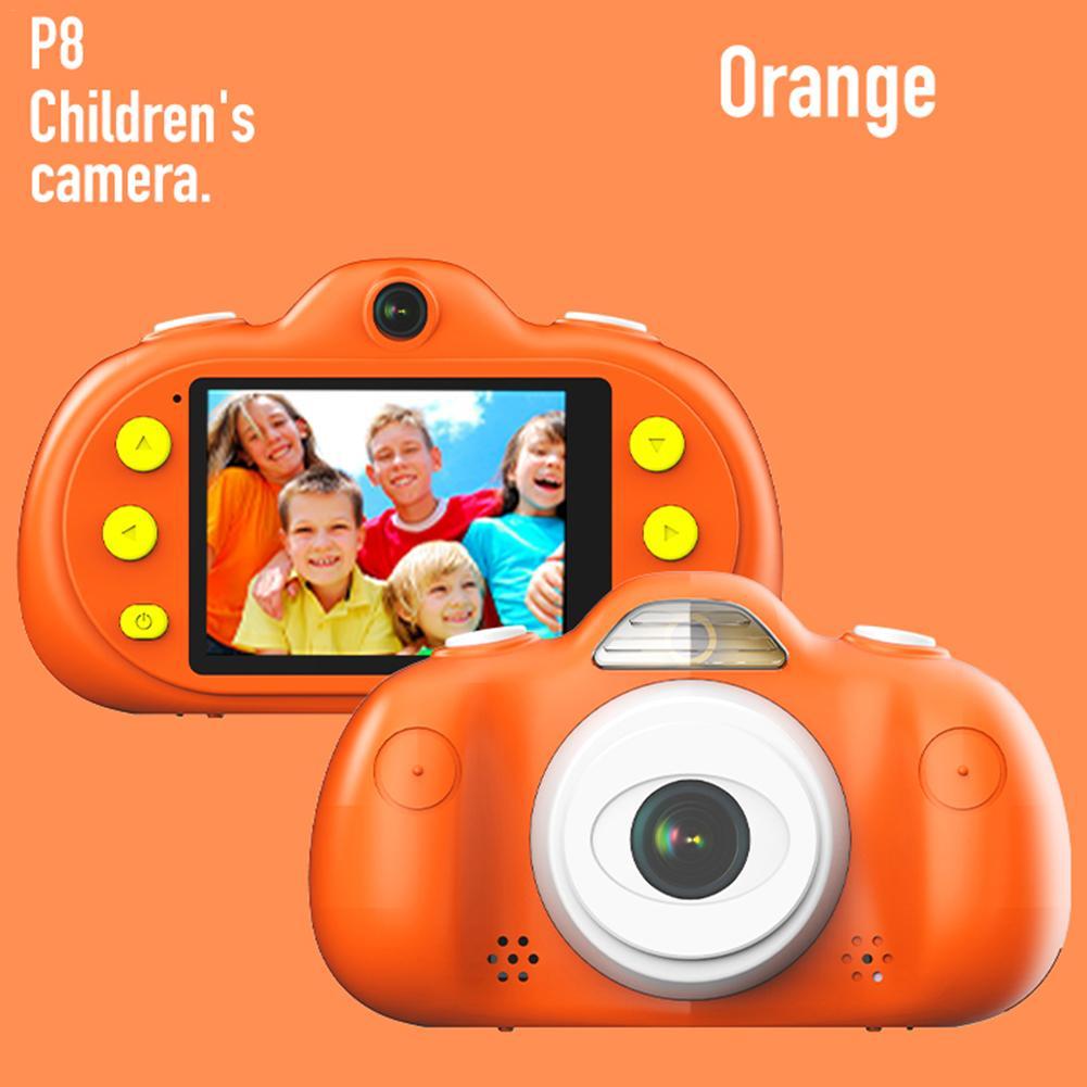 2.4 pouces TFT écran P8 enfants caméra numérique HD 8MP DSLR double lentille étanche caméra jeux intégrés haut-parleur de tournage vidéo
