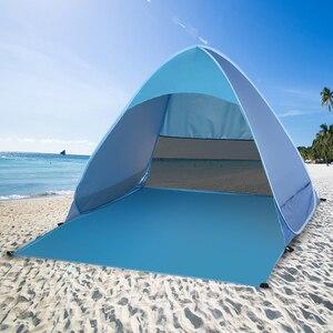 Image 1 - Lixada otomatik anında Pop Up plaj çadırı hafif açık UV koruma kamp balıkçı çadırı Cabana güneş barınak