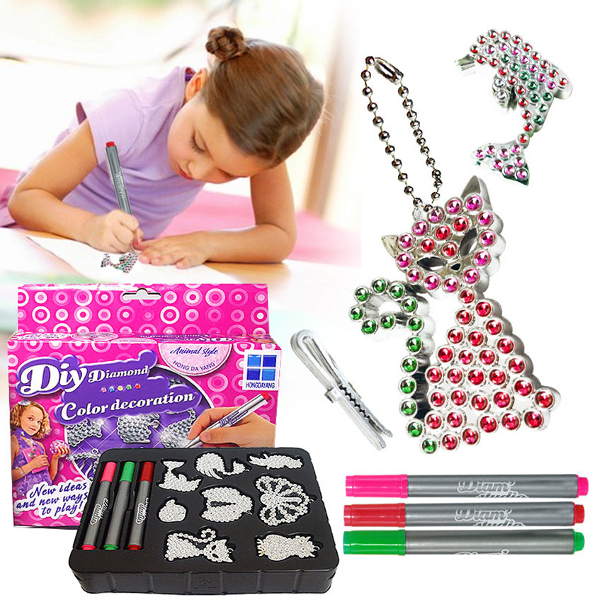 Imaginative Toys For Girls : Jewelry hand drilling creative diy toys early education