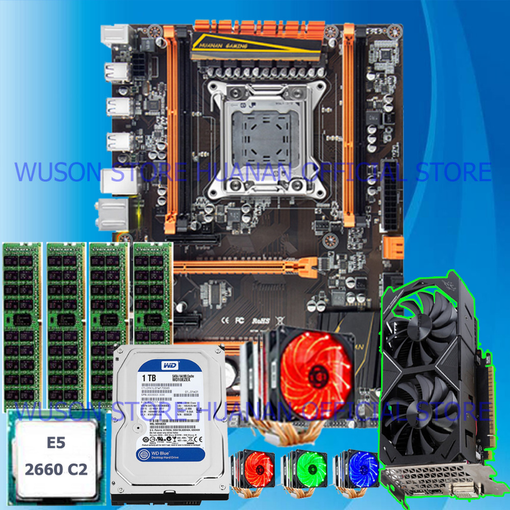 Perfect Computer DIY HUANAN X79 motherboard combos computer set GOOD quality guarantee GOOD tested before shipping цены
