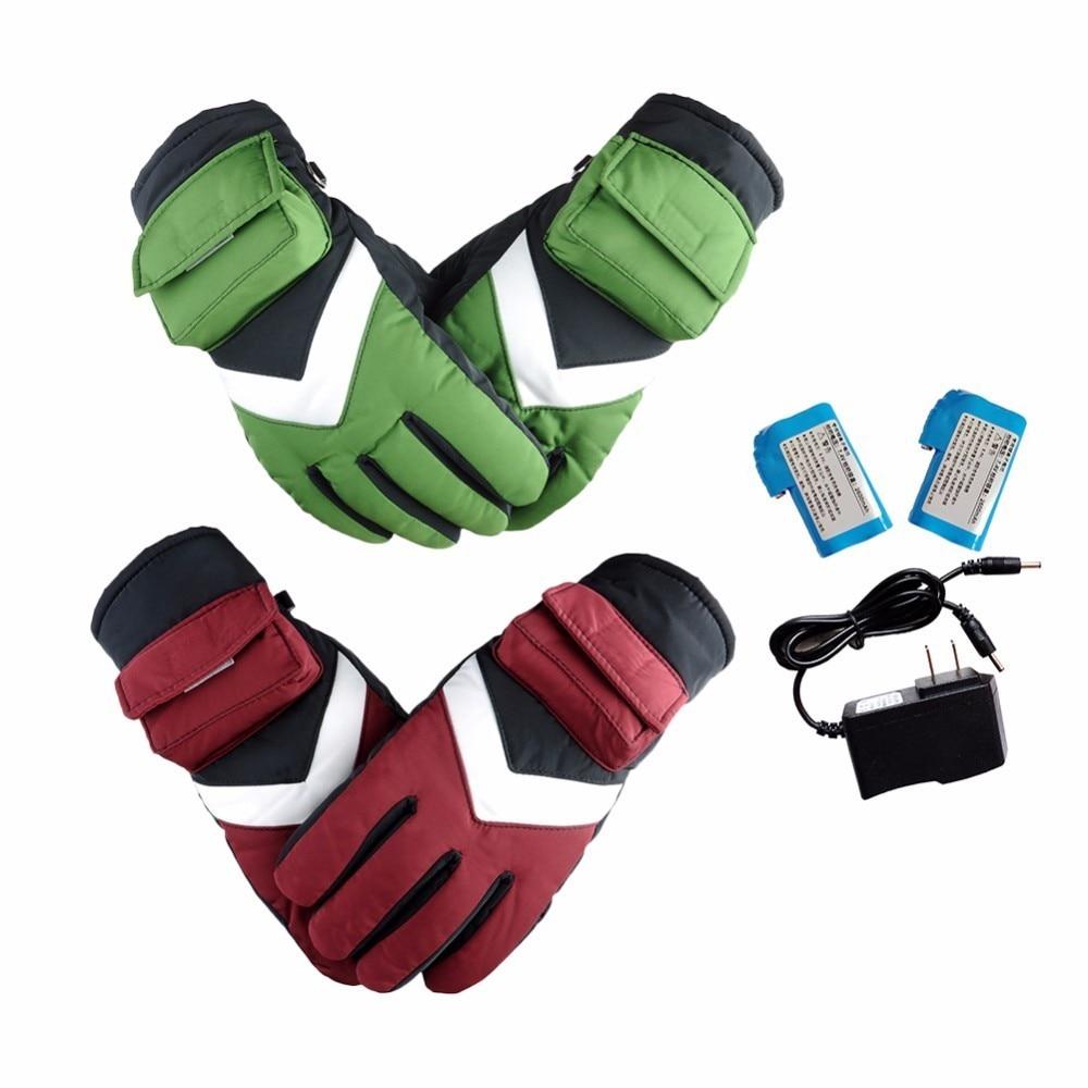 цена на Electric Heating Gloves Motorcycle Gloves Night Reflective Back Winter Fleece Thermal Warm Snowboard Skiing Gloves Handwear
