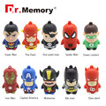 usb flash drive Super Hero pen drive cartoon hot sale usb stick cute mini pendrive 4G 8G 16G  U disk flash card 32gb memory disk