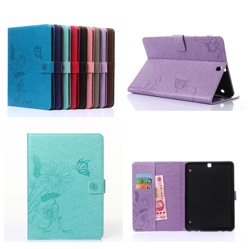 GY Luxury Tablet Cover Case For Samsung Galaxy Tab S2 9.7 inch SM-T810 SM-T815 PU Leather Flip Wallet Stand Cover For T810 T815