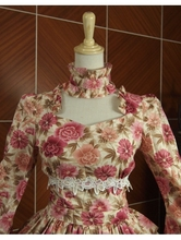 Red Printed Vintage Sweet Rococo Lolita Blouse