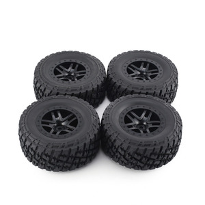 Image 3 - Комплект резиновых колес AUSTAR 110 мм, 4 шт., комплект запасных частей для модели гусеничного автомобиля Traxxas Slash 4X4 RC4WD HPI HSP
