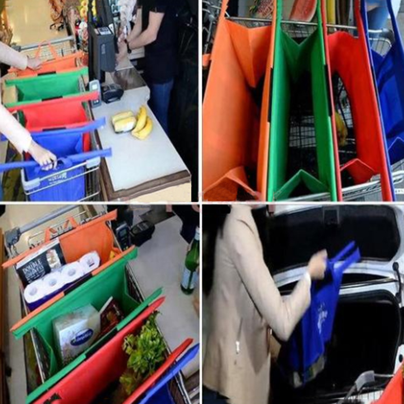 4pcs-set-Cart-Trolley-Supermarket-Shopping-Bag-Grocery-Grab-Shopping-Bags-Foldable-Tote-Eco-friendly-Reusable