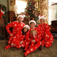 Family Christmas Pajamas Snowflake New Year S Clothes For Girl Clothes Set Zipper Jacket Pants Two