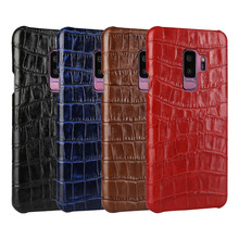 S9+ Luxury Genuine Leather Case for Samsung Galaxy S9 Plus S9+ Case Crocodile Cowhide Pattern Back Cover for Samsung S9 Case samsung s9 case luxury original genuine suede leather protector case samsung galaxy s9 plus case galaxy s9 s9 ef xg960 ef xg965
