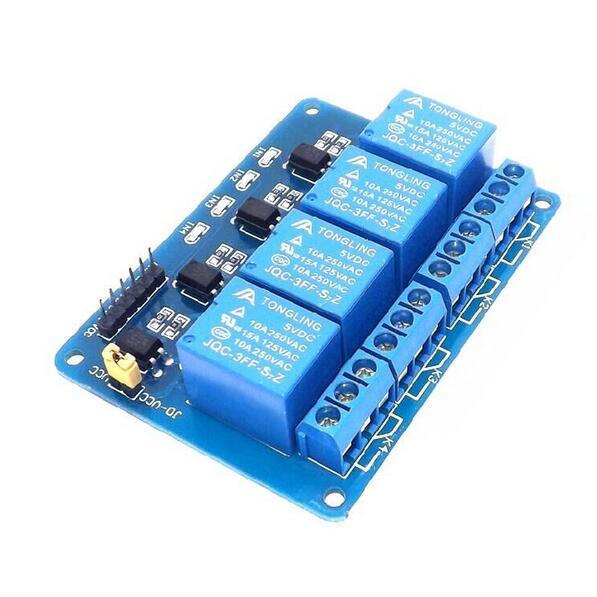 € 3 63 |5 V 4 canal Módulo de relé con optoacoplador 4 canal módulo de relé  para Arduino PIC AVR DSP ARM 8051 frambuesa Pi en Relés de Mejoras
