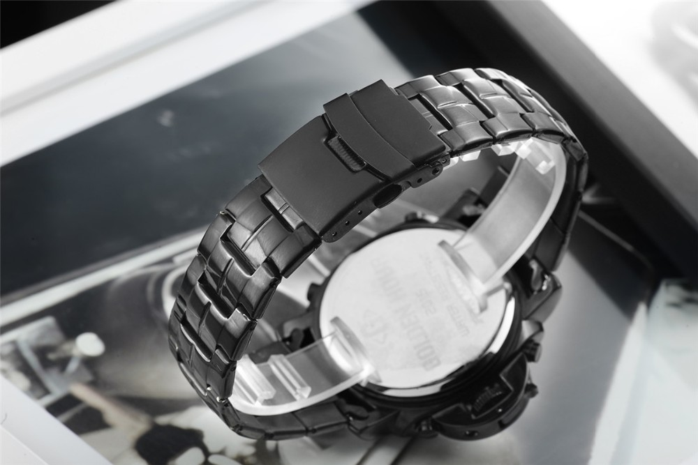 ที่ขายดีที่สุดทั้งหมดสแตนเลสสีดำผู้ชายOriginaฉลามนาฬิกาสไตล์อนาล็อกดิจิตอลปลุกน้ำทนRelógio Masculino 10