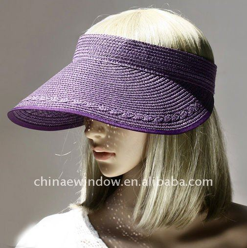 Simple Visors Style Foldable Sunshade Straw Hat D64443