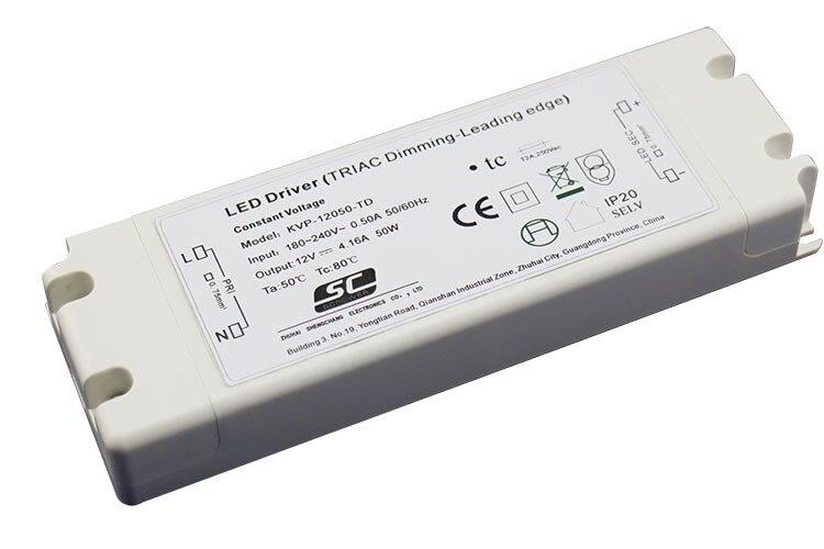 KVP-12050-TD;12V/50W triac dimmable constant voltage led driver,AC90-130V/AC170-265V input kvp 24200 td 24v 200w triac dimmable constant voltage led driver ac90 130v ac170 265v input