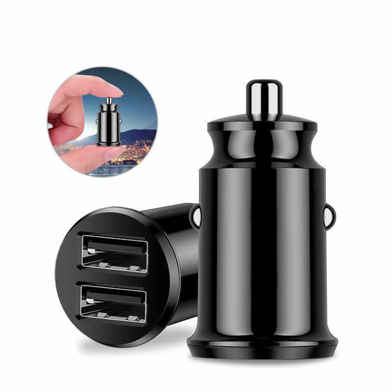الذكية سريع مصغرة سيارة شاحن الهاتف المزدوج USB سيارة ميني USB شواحن 3.1A شحن 2 منفذ USB للسيارة-شواحن ل فون هواوي سامسونج
