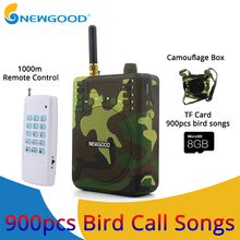 Camouflage Mini Portable Speaker Bird Caller Hunting Decoys 1000m Remote Control Speaker 900pcs Bird songs Recording TF USB disk russia hunting decoys wholesale outdoor hunting remote control 6v plastic drake with magnet spinning wings from xilei
