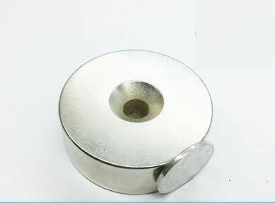 1pc Super Strong Round NdFeB Neodymium Countersunk Disc Magnets Dia 60mm x 20mm hole 10mm N52 Rare Earth NdFeB Magnet 60*20-10 все цены