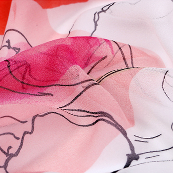 Tela Estampada Rosa | 1 Metro Rosa Flor Impresión Georgette Tela Seda Alta Gama Vestido Material