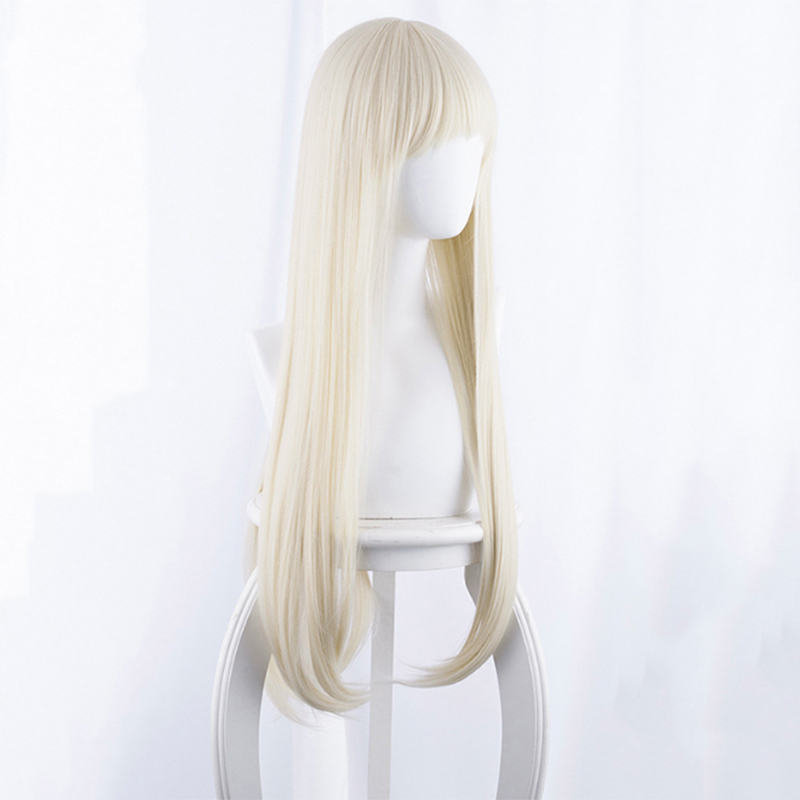 Japanese Anime Kakegurui Cosplay Wig Yomotsuki runa Cosplay Wig Long Straight Yellow White Hair Synthetic wig Party Carnival Wig in Costume Props from Novelty Special Use
