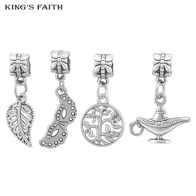 ff40c63b6 KING'S FAITH Silver Plated Masks Cameras Tree Of Life Pendants Fit pandora  Charms Bead Bracelets DIY