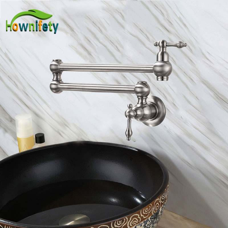 Hownifety Orb Brushed Chrome Gold Single Cold Water Kitchen Faucet Wall Mounted One Hole Rotation Torneira Kitchen Faucets Aliexpress