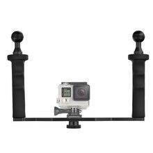 Aluminum Alloy Handheld Stabilizer for GoPro Hero 6 5 4 Xiaomi Yi 4K Lite SJCAM SJ7 Eken h9 Action Camera Underwater Tray Mount
