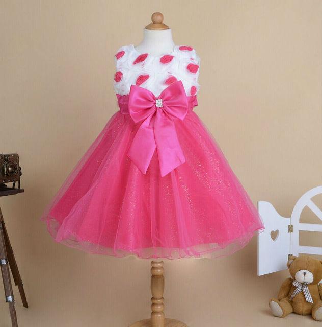 734a9dada9c6 2017 Flowers Girls New Design Wedding Birthday Party Bow Mesh ...