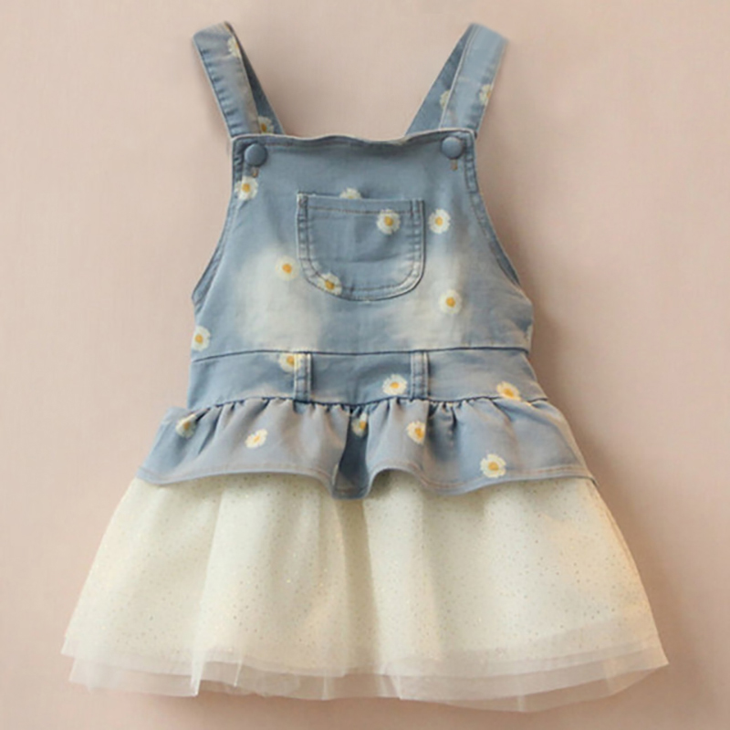 Newborn Baby Girl Dress Flowers Print Straps Sleeveless Kids Dress With Sequins 2018 Infant Clothing Girl Clothes Vestidos Bebes
