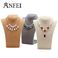 4 Colors 11 02 8 26inch Necklace Busts Jewelry Display With High Quality Cord Material For