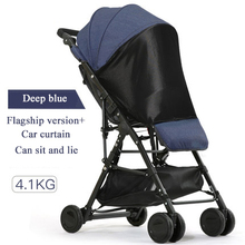 Directly boarded plane 3.6 kg fold stroller can sit and lay Aluminium alloy frame 52cm high landscape stroller 5 free gifts! high quality baby stroller many colors new born can use stroller ru free on sale leg cover free 7 gifts