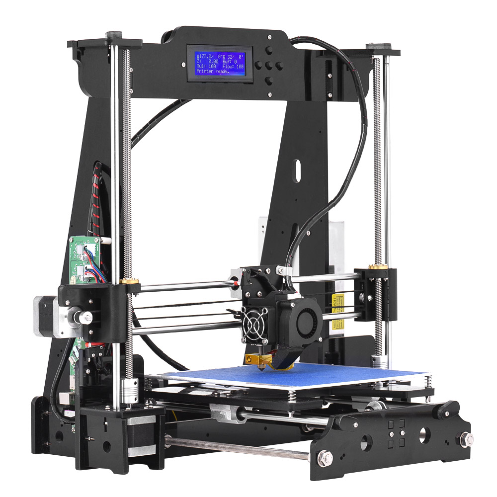 Advanced DIY 3D Printer P802M Reprap i3 Kit 2004 LCD Screen Acrylic Frame Clear