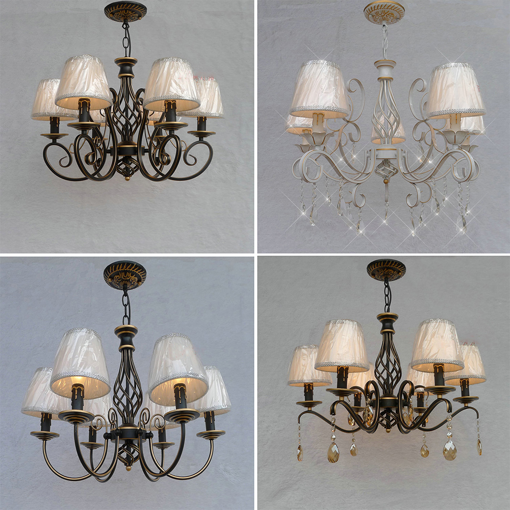 HGhomeart American Retro Style Iron Chandelier Lighting Led E14 Bulb 110V-220V Led Chandelier Luminarias Dining Room Chandeliers hghomeart creative cartoon chandeliers led crystal chandelier kids room luminarias wrought iron lamp lustre suspension