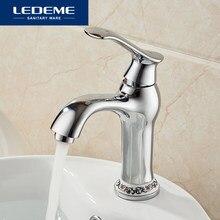 LEDEME Bad Wasserhahn Becken Armaturen Elegante Kurve Designer Wasser Waschbecken Wasserhahn Mixer Chrom-finish L1041-2