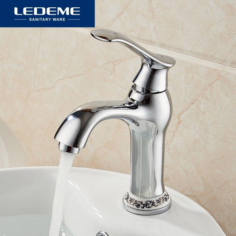LEDEME Bathroom Faucet Basin Faucets Elegant Curve Designer Thermostatic Water Bathroom Sink Faucet Mixer Chrome Finish L1041 2