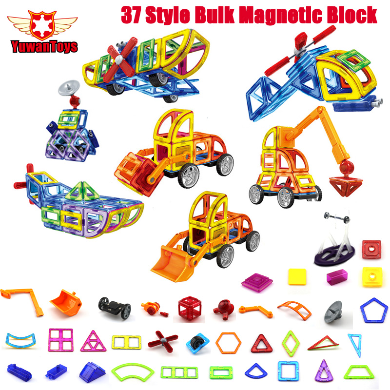 37 Style Classic Plastic Models Bulk Magnetic Designer Brick Blocks font b Toys b font Kid