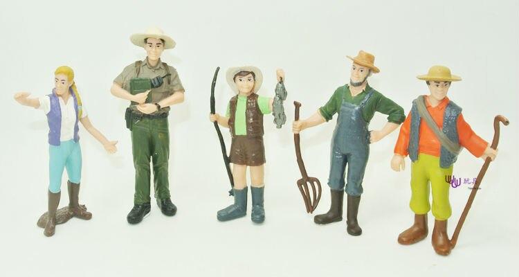 9 разные люди/набор, профессиональный ручная кукла, фермер, ранчо хранитель, парка, работник, овчарка, ручная кукла S