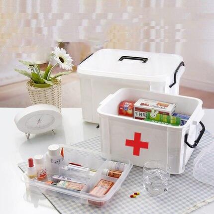 Очень большой медицинские коробка для хранения Pill чемодан медицинские бытовые многофункциональный pill коллектора и организатор