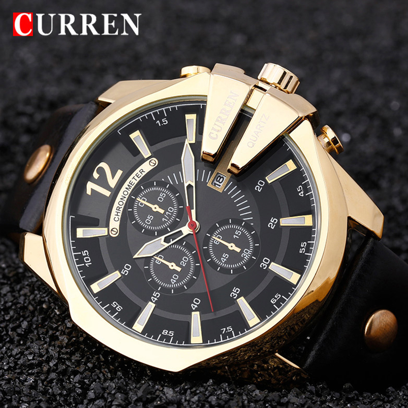 CURREN männer Top-marke Luxus Quarz Uhren herren Sport Quarz-Uhr Military Male Uhr Mode Gold Uhr 8176 drop shipping