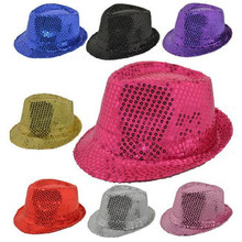 Bazzery Children / Adult Unisex Hip - hop Jazz Hat Stage Show Cap Magic Show Performance Clothing Accessories Bling Hats(China)