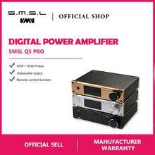 SMSL Q5 Pro Hi-Fi аудио цифровой Мощность Усилитель 2×45 W Управление USB коаксиальный Оптический Вход 192 кГц 44Bit Цвет черный, серебристый цвет золото
