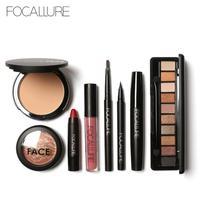 Focallure makeup sets 8 stücke Pulver Eyeliner Mascara lippenstift Erröten Tool Kit anfänger Täglichen Gebrauch pro Make-Up Anzüge A5