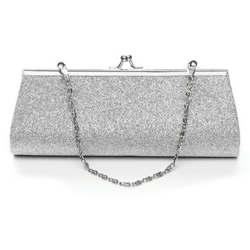 Women Glitter Clutch Purse Evening Party Wedding Banquet Handbag Shoulder Bag