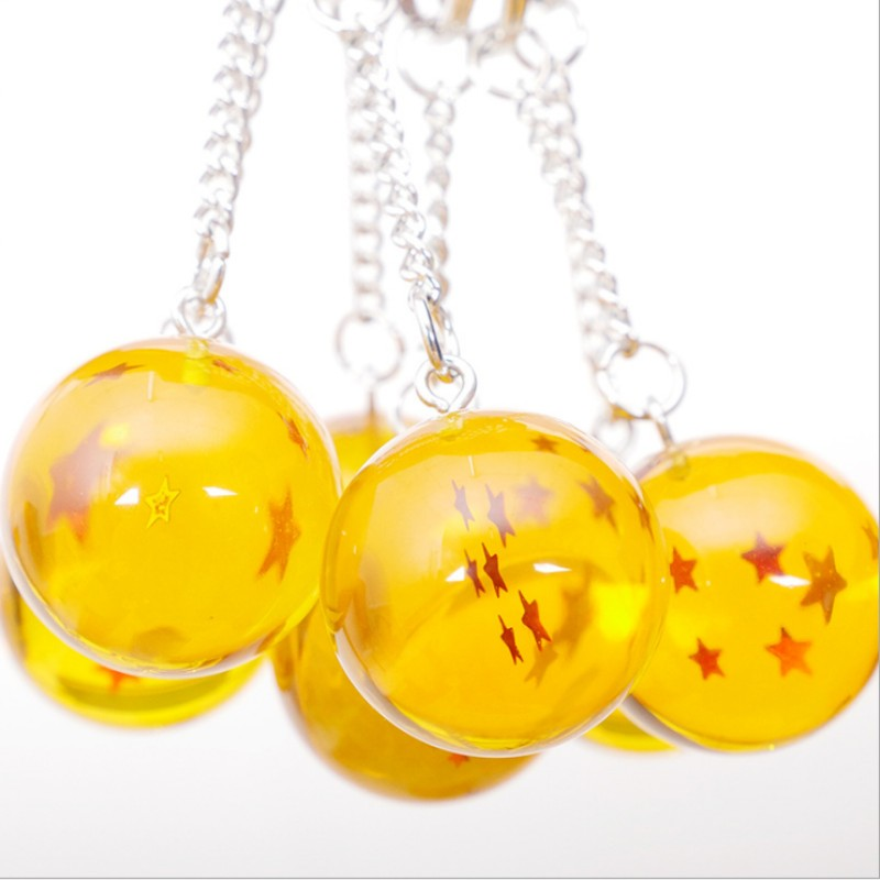 105pcs Cartoon Anime Dragon Ball Z keychain Child DBZ Cosplay PVC 1 7 Stars Crystal Ball