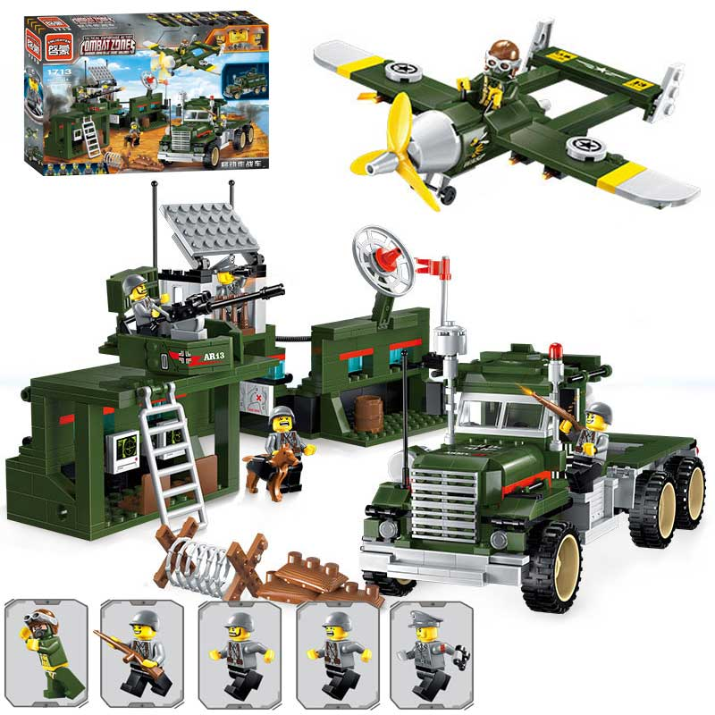 все цены на  Classic WW2 Military Base Main Tank Battle Mobile Combat Vehicle Model Bricks Toy Military Pilot Soldier Figures Educational Toy  онлайн
