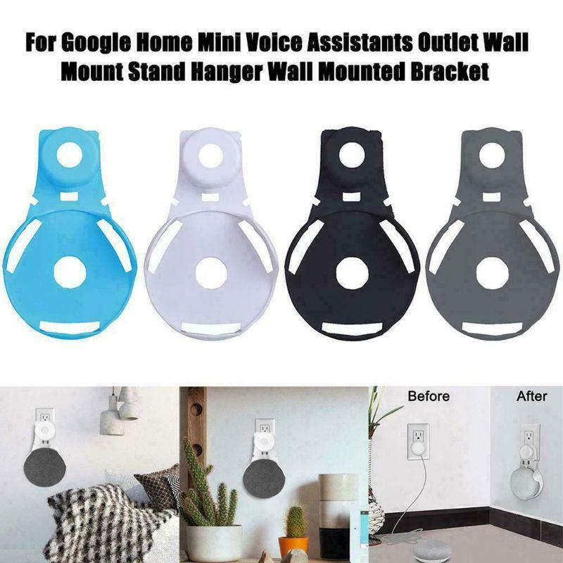 Wall Outlet Mount Holder Hanger Stand Grip For Google Mini Voice Assistants hi