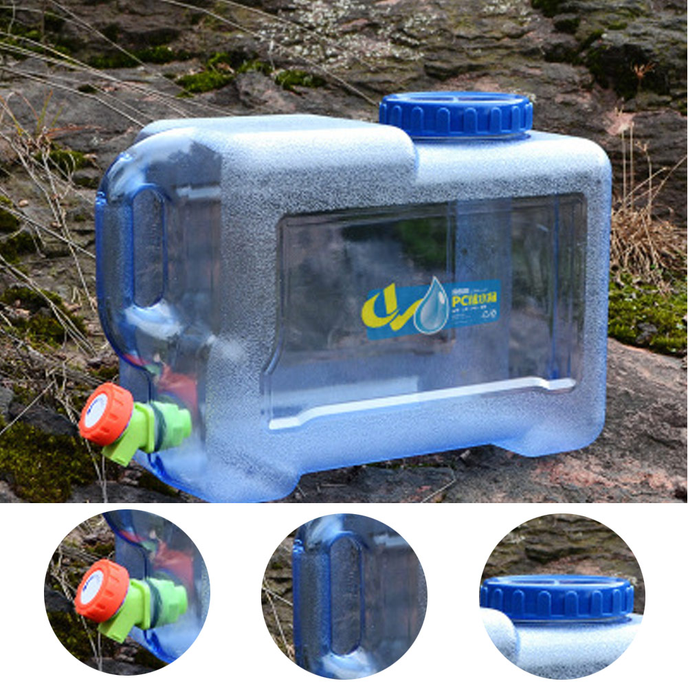 12L Car Driving Water Bucket PC Thickened camping water tank Portable Water Container with Faucet For Camping Hiking Picnic