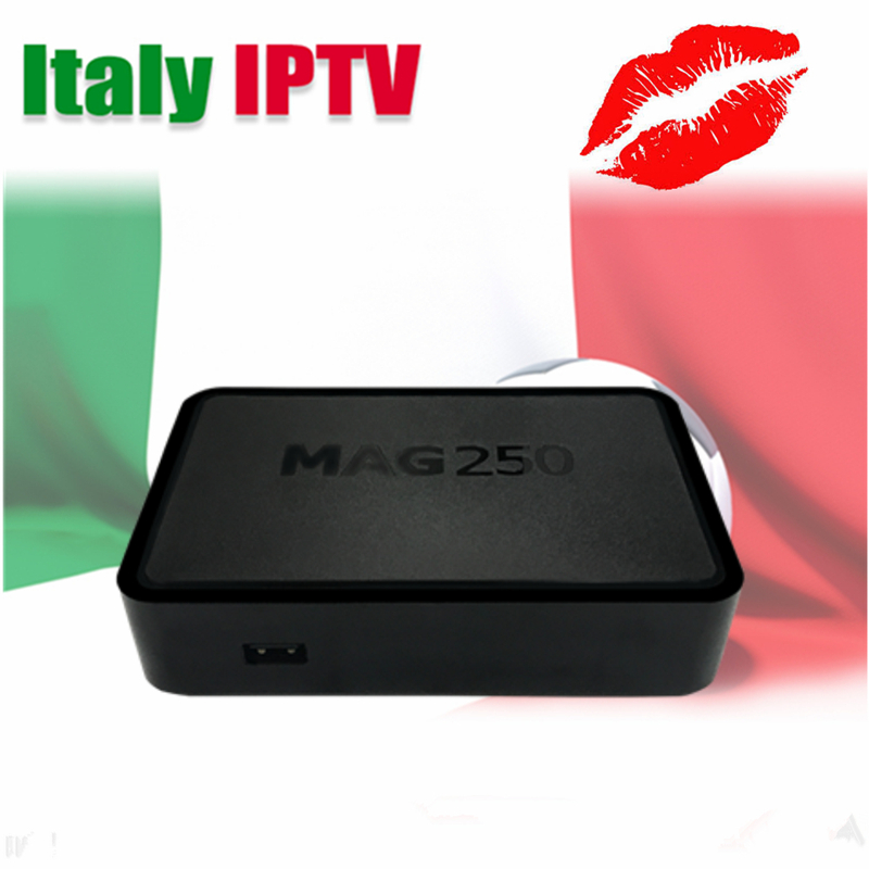 Italy Italian IPTV Mag250 Linux IPTV Processeur STi7105 RAM 256 Mb Germany  UK IPTV Smart TV Box Italien 3,000 En Direct 20,00 italien nord 1 500 000